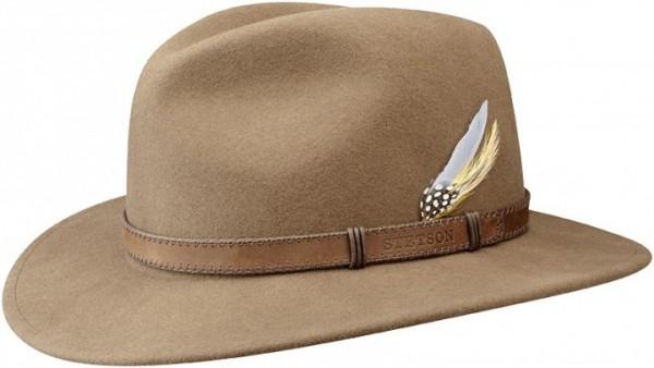 sombrero fedora marron