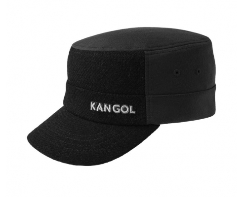 Black Kangol Military Wool Cap