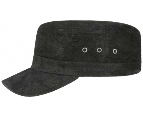 Black Cap Stetson Military Cap