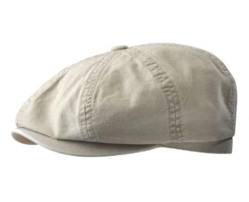 Gatsby White Cotton Cap