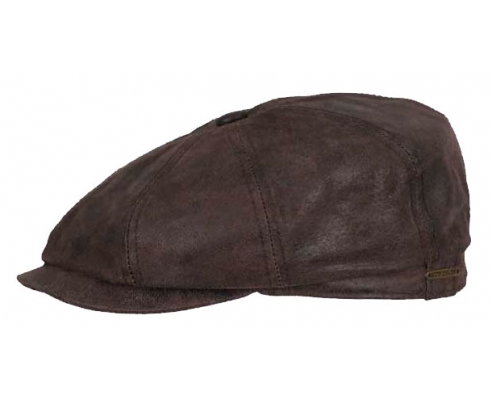 Hatteras Leather Brown Cap
