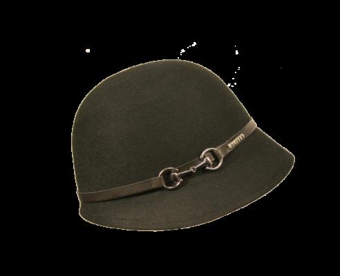 Sombrero Cloché Hebilla Negro