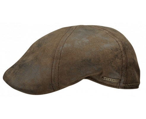 Duckbill Texas Leather Brown Cap