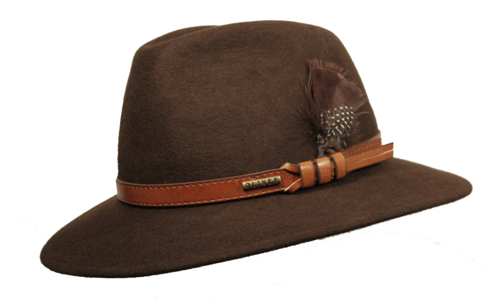 0f3748ebc6b7d Sombrero Fedora Indiana Impermeable Marrón Apache - Pingleton Hats