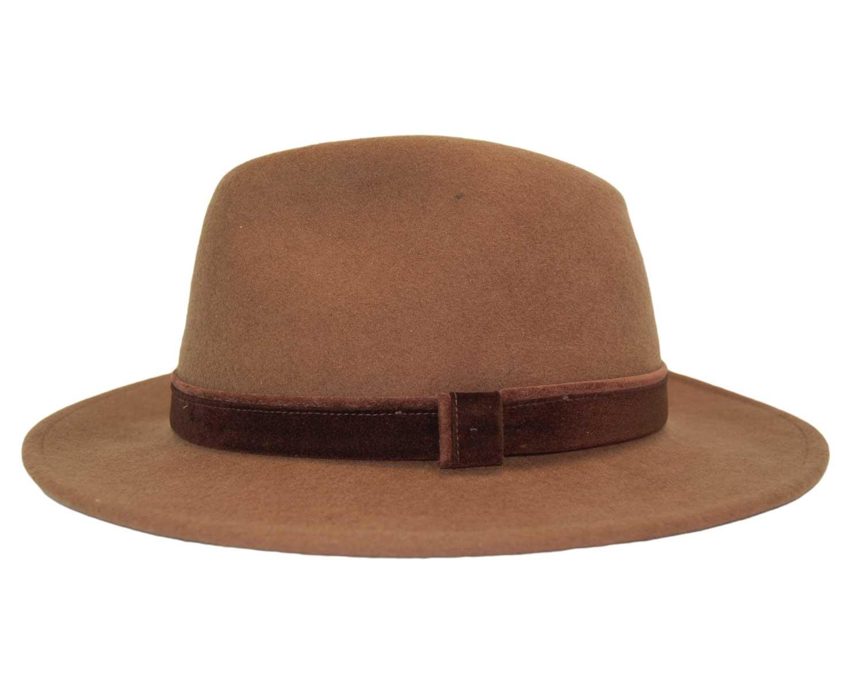 092d2e5d48b3a Sombrero Fedora Indiana Impermeable Habano - Pingleton Hats