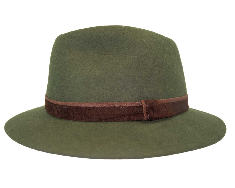 Sombrero Fedora Indiana Impermeable Verde - Pingleton Hats dac3e43850d