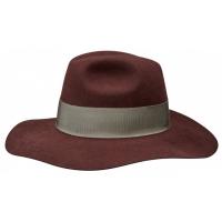Sombrero Fedora Stetson Plum Rojizo