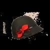 Sombrero Cloché Lana Flor Negro