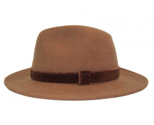 Sombrero Fedora Indiana Impermeable Habano