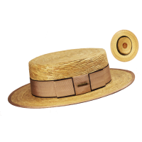 Sombrero Canotier Palma Natural Beige