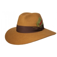 Sombrero Fedora Safari Mostaza