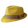 Sombrero Trilby Taft Raffia Amarillo