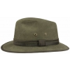 Sombrero Fedora Stetson Traveller Cotton Verde