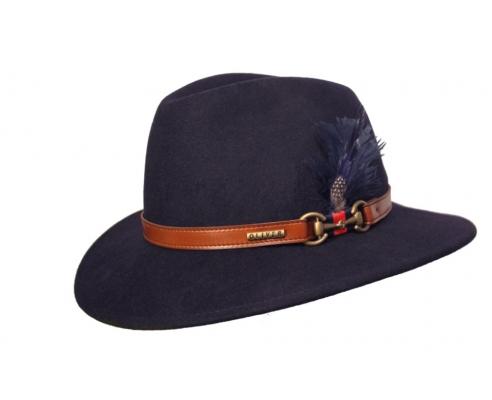 Sombrero Fedora Indiana Chester Azul Marino