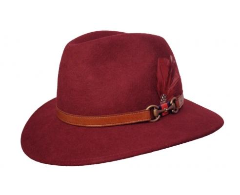 Sombrero Fedora Indiana Chester Burdeos