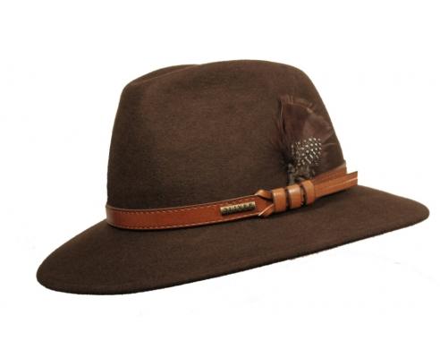 Sombrero Fedora Indiana  Marrón Apache