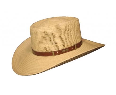 Sombrero Panamá Ala Gambler Camel