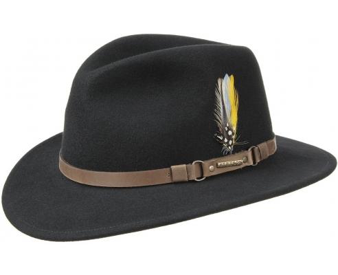 Sombrero Fedora Stetson Hamlin Negro