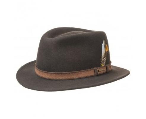 Sombrero de Mujer Fedora Stetson Merced Marrón