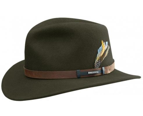 Sombrero de Hombre Fedora Stetson Outdoor Sardis Verde