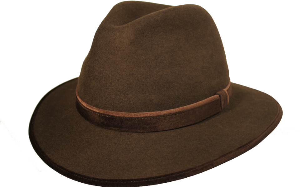 a7657d8dd42ad Sombrero Fedora Indiana Marrón Marrón - Tienda online Pingleton Hats