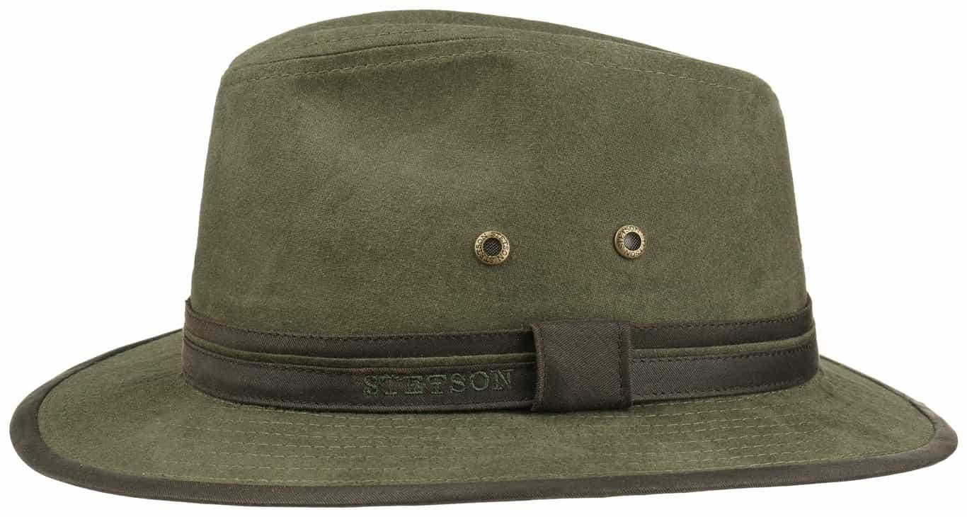 Sombrero Fedora Stetson Traveller Cotton Verde - Tienda online ... 907014b17ac
