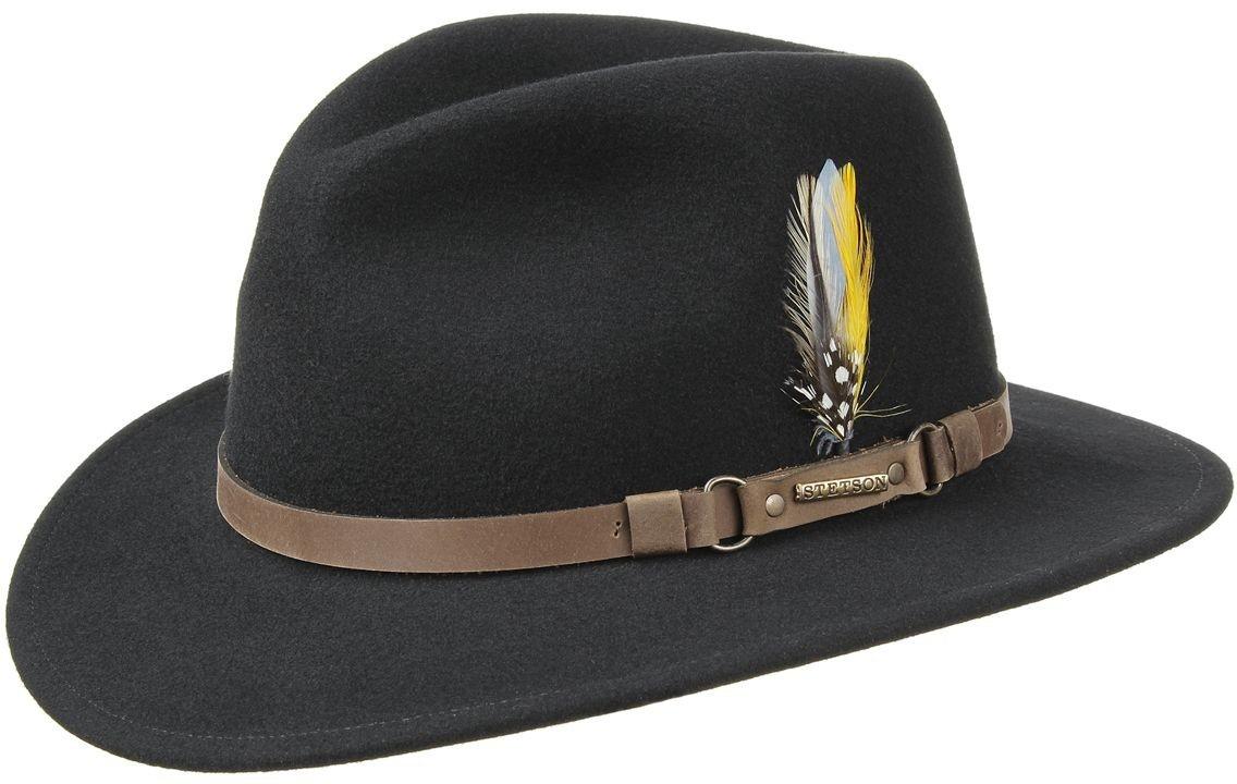 9e2da2ee952d6 Sombrero Fedora Stetson Hamlin Negro Negro - Tienda online Pingleton ...