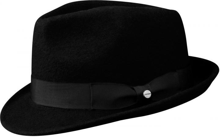 d9f49651f4b48 Sombrero Trilby Stetson Richmond Negro - Tienda online Pingleton Hats