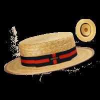 Sombrero Canotier Oliver Hats Palma Natural Azul