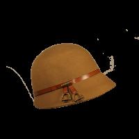 Sombrero Cloché Estribos Tostado