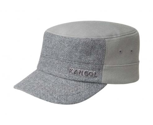 Capa militar Kangol de lã cinza
