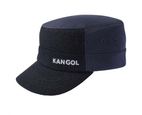 Capa militar Kangol de lã marinha