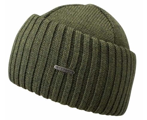 Beanie Merino lã gola de lã verde