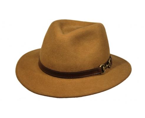 Sombrero Fedora Cofari Camel