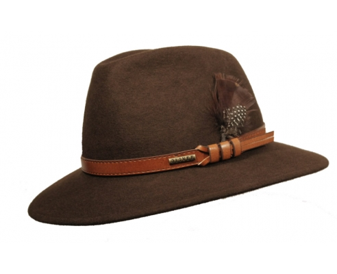 Sombrero Fedora Indiana Impermeable Marrón Apache