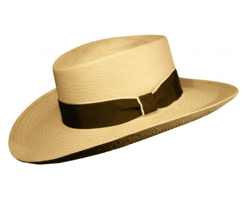 Sombrero Panamá ala Gambler Lazo Natural